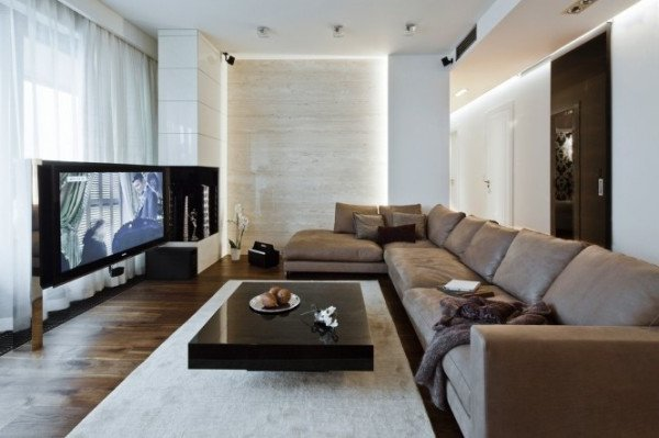 Pisos modernos 60 fotos y consejos de decoraci n decora for Salones para pisos