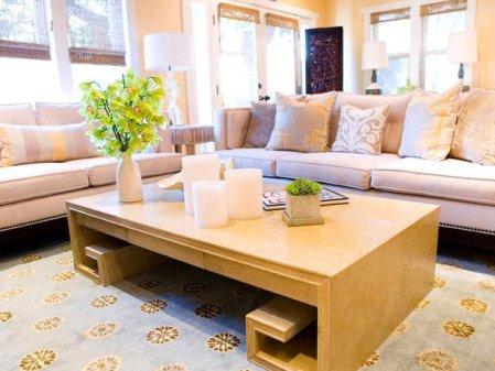 sala con alfombra grande