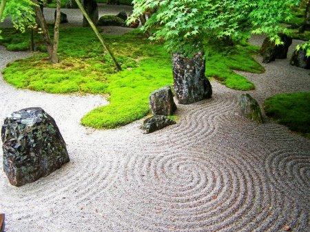 ya que segn muchos estos jardines representan paisajes en miniatura en los cuales la gravilla es el mar las rocas y pequeas plantas son islas y sus