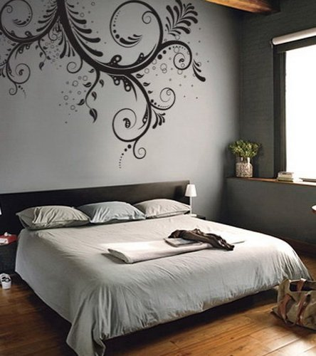 Decorar el dormitorio con poco dinero ecoraideas - Vinilos para pared de dormitorio ...