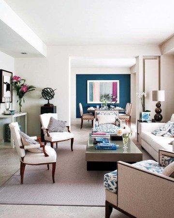 Combinar Colores Para Dar Profundidad En La Decoracion Decoraideas - Combinacion-colores-habitacion