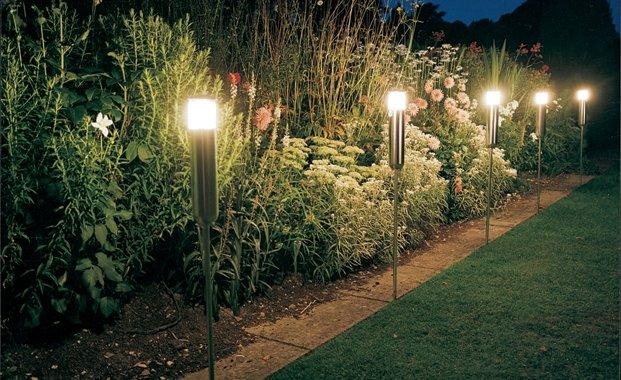 luces led para jardín