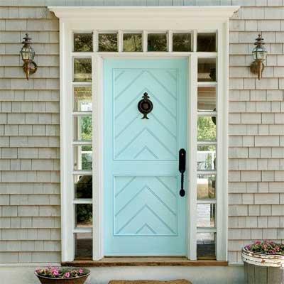 Puertas principales qu color elegir 60 fotos ecoraideas for Puertas diferentes