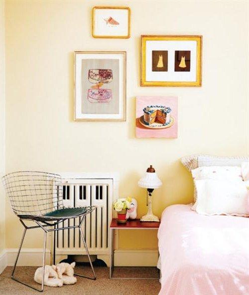 Dormitorio infantil con cuadros
