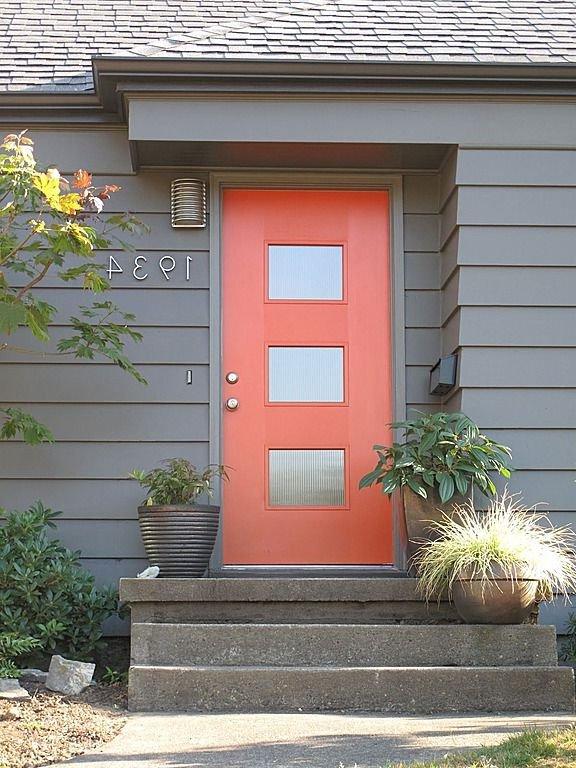 Puertas principales qu color elegir 60 fotos for Colores fuertes para exteriores