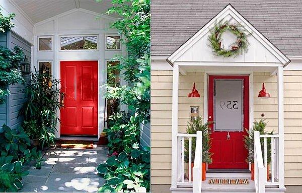 Puertas principales qu color elegir 60 fotos ecoraideas for Combinacion de colores para paredes exteriores