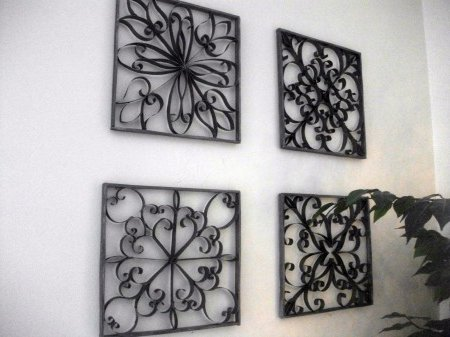 Manualidad para decorar paredes imitaci n hierro ecoraideas for Decoracion en metal para pared