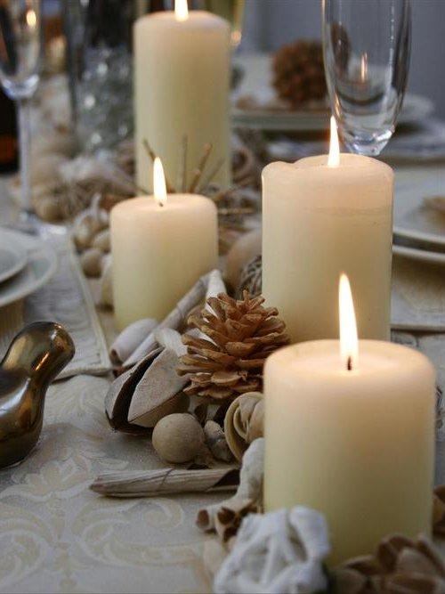 Centros De Mesa Para Navidad 2018 2019 Decoraideas - Centros-de-mesa-navideos-con-velas