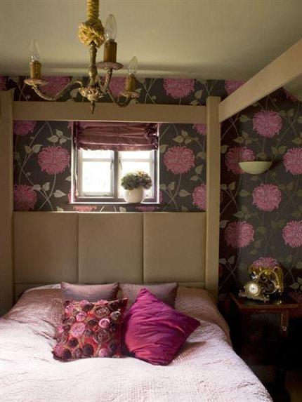 Papel tapiz para paredes 40 ideas y fotos - Flores para decorar paredes ...