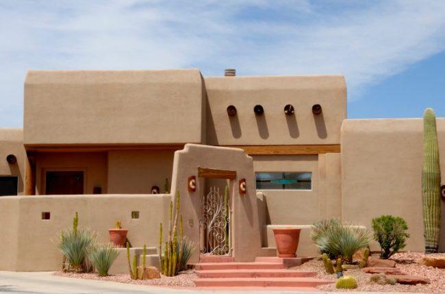 Casas de adobe modernas 25 fotos de interiores y for Casas de diseno santa fe