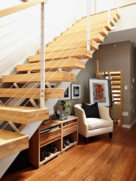 Escaleras modernas 50 fotos e ideas ecoraideas for Bibliotecas debajo de escaleras