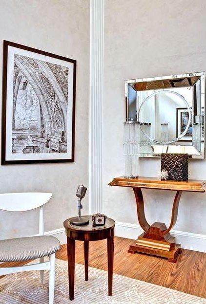 Baños Estilo Art Deco:Materiales pulidos, súper brillantes, como es el caso del cromo y el