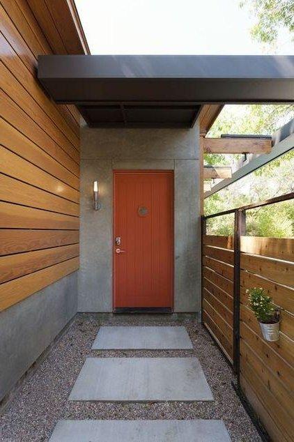 Puertas principales qu color elegir 60 fotos ecoraideas for Colores de moda para fachadas
