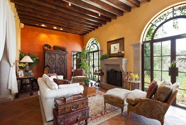 Color naranja en decoraci n moderna decora ideas for Casas modernas con interiores contemporaneos