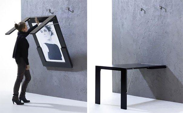Muebles para una casa peque a fotos e ideas ecoraideas - Mesas abatibles de pared ...