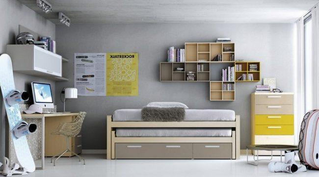 Dormitorios juveniles 40 fotos e ideas de decoraci n for Habitaciones juveniles japonesas