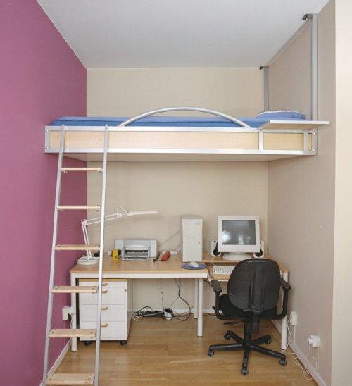 Dormitorios juveniles peque os 30 fotos e ideas - Dormitorios muy pequenos ...