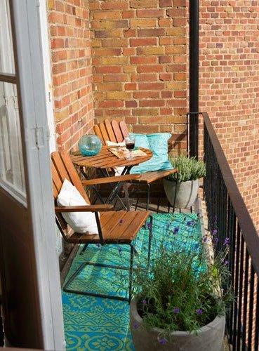 Decoraci n de balcones peque os ecoraideas - Decoracion de balcones pequenos ...