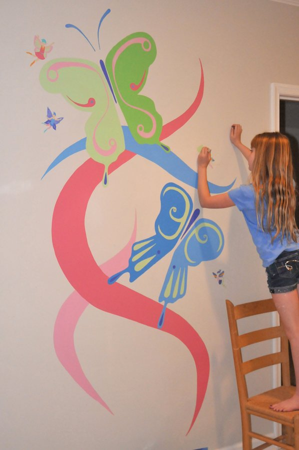Murales infantiles 12 ideas f ciles y baratas inspiradoras - Murales infantiles pared ...