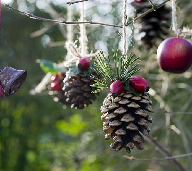 adornos navidenos  pinas   decoraideas