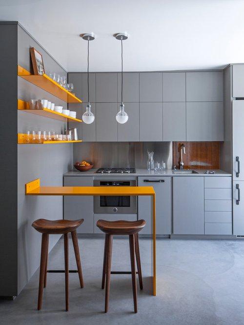 Cocinas peque as modernas 2017 de 100 fotos e ideas for Cocinas en espacios reducidos fotos