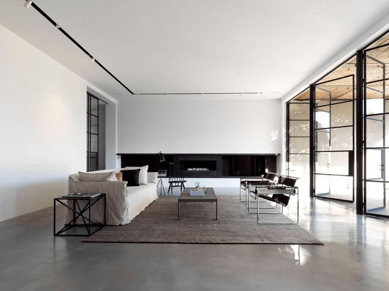 La imagen de una casa minimalista no puede dar lugar a cosas tiradas ni a suciedad la limpieza el orden y el equilibrio son fundamentales