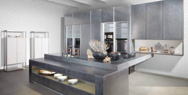 Cocinas de cemento 20 ideas y fotos ecoraideas for Gabinetes en cemento