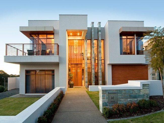 Casas modernas 2018 150 im genes de exteriores e for Casa minimalista vidrio