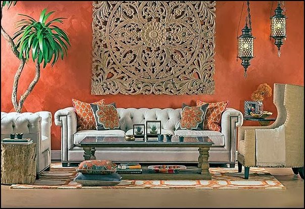 Decoraci n marroqu 100 ideas y fotos ecoraideas for Cortinas marroquies