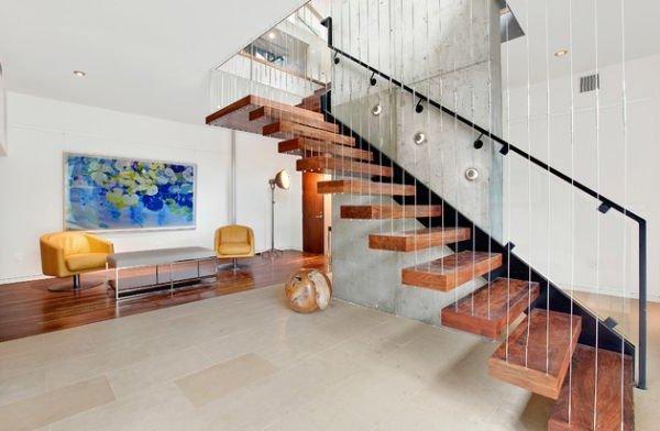 Escaleras modernas 50 fotos e ideas - Escaleras de madera modernas ...