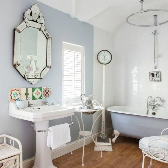 Cute Apartment Bathroom Love The Color: Decoración Francesa 40 Fotos E Ideas