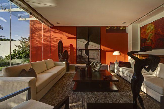 Color naranja en decoraci n moderna ecoraideas - Decoracion de paredes colores ...