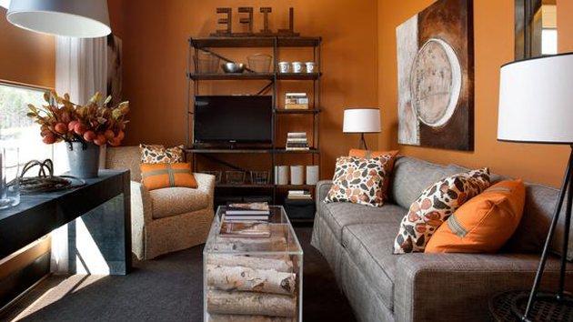 Color naranja en decoraci n moderna for Decoracion naranja