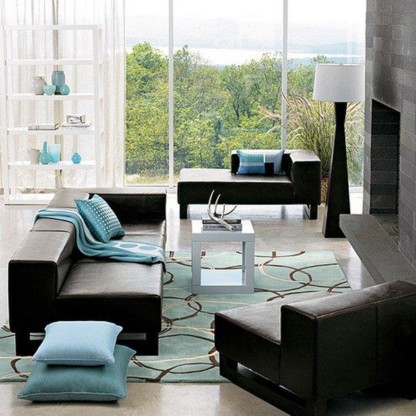 Colores que combinan con marr n ecoraideas for Salones con muebles oscuros