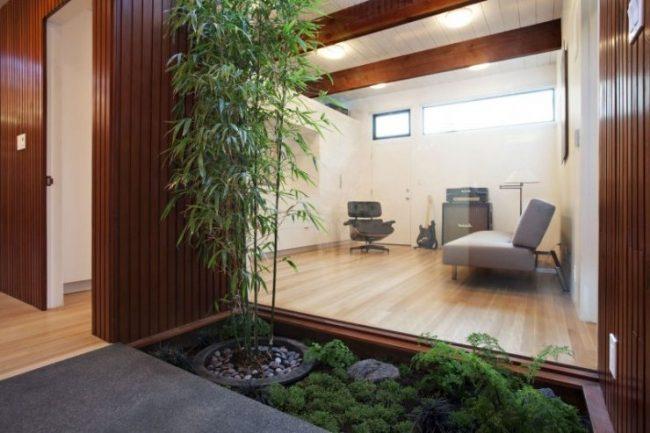 Jardines interiores modernos 25 fotos y consejos de dise o for Plantas de oficinas modernas