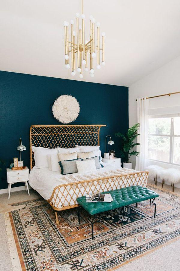 Colores para dormitorios 2019 200 fotos e ideas para for Murales de pared para dormitorios
