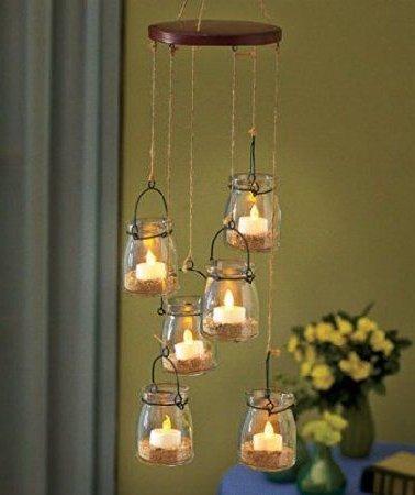 Adornos con velas decorativas