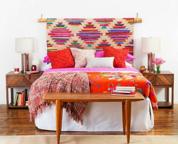 Cabeceros de cama modernos f ciles de hacer ecoraideas - Telas para cabeceros de cama ...