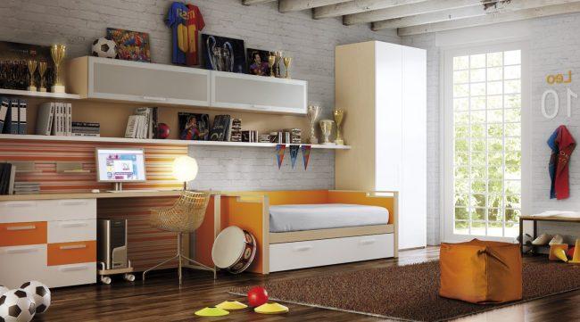 Dormitorios juveniles 40 fotos e ideas de decoraci n for Comedor juvenil