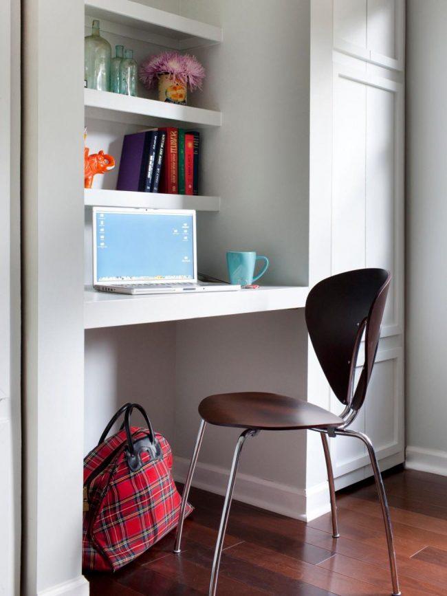 escritorio pequeño en pared