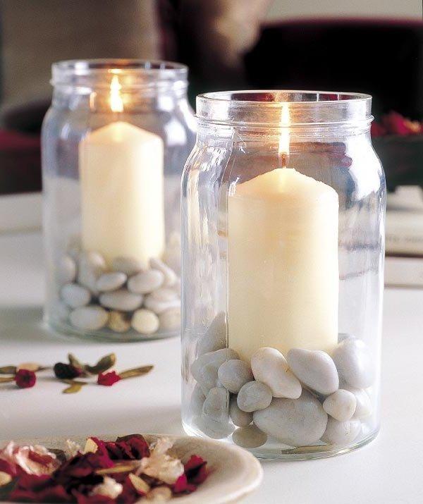 Centros de mesa con velas ecoraideas - Arreglos con velas ...