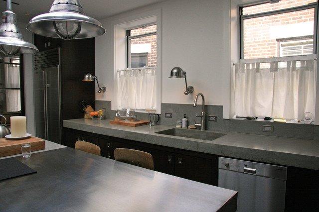 Cocinas de cemento 20 ideas y fotos ecoraideas for Mejor material para encimeras de cocina