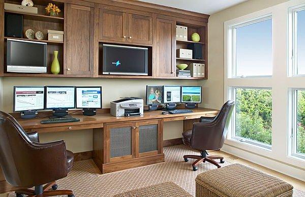 Elegantes Escritorios De Oficina Modernos.Como Decorar Y Ordenar Una Oficina Decoraideas