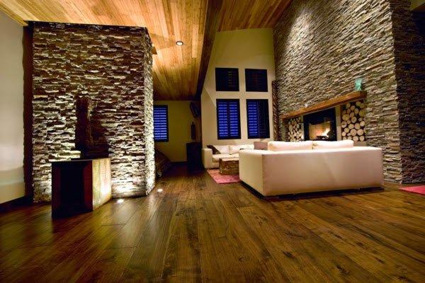 decoracion con piedras en interiores