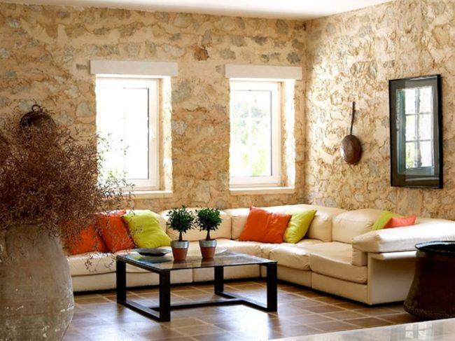 Salones decorados con piedra ideas para decorar un salon - Salones decorados con piedra ...