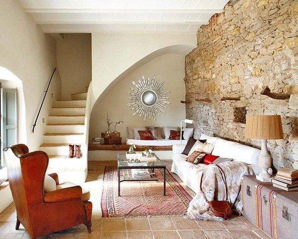 Paredes De Piedra Ideas Y 50 Fotos De Interiores Decoraideas - Decoracion-con-piedras-en-interiores