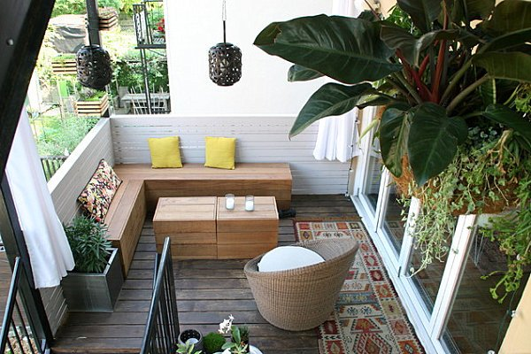 terrazas peque as 60 fotos e ideas ecoraideas. Black Bedroom Furniture Sets. Home Design Ideas