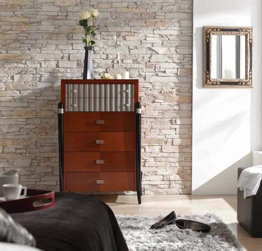 Paredes de piedra ideas y 50 fotos de interiores ecoraideas for Paredes interiores revestidas en piedra