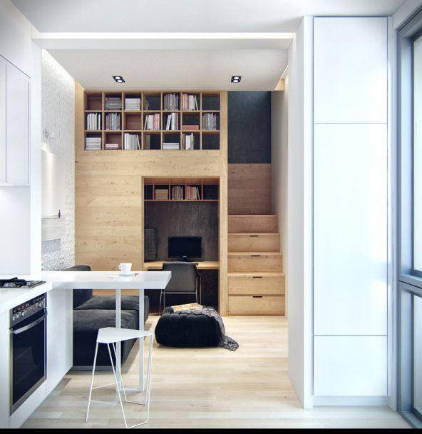Interiores de pisos moderna de lujo sala de estar diseo interior pisos de madera with - Interiores de pisos ...