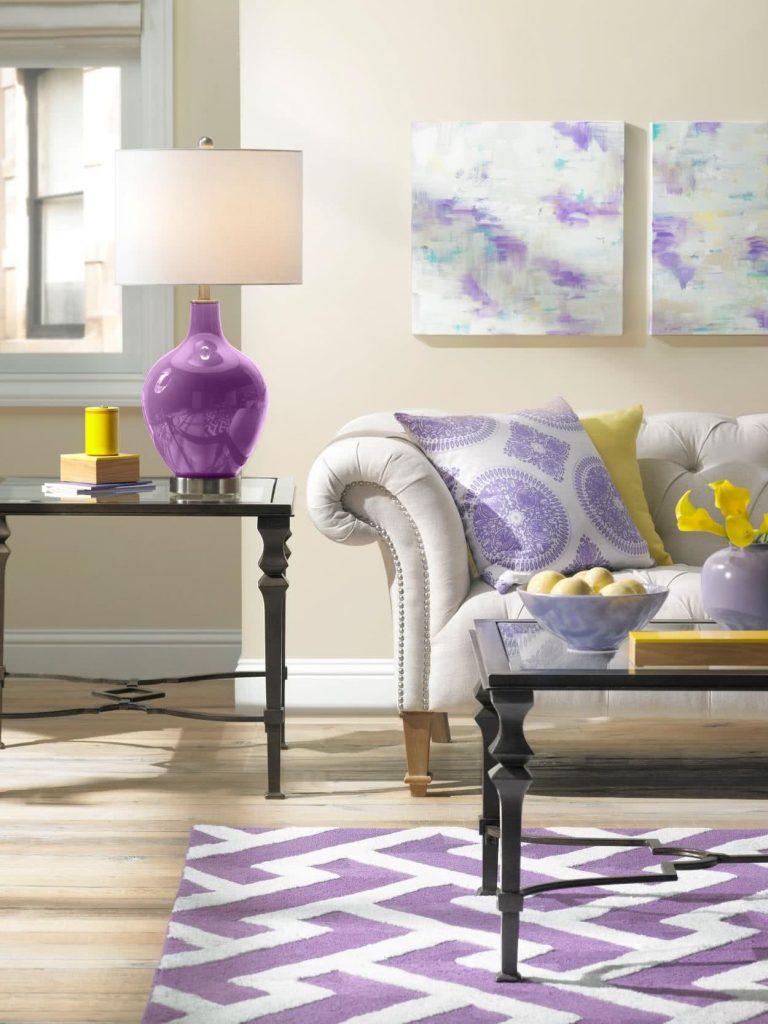 Color morado para decorar
